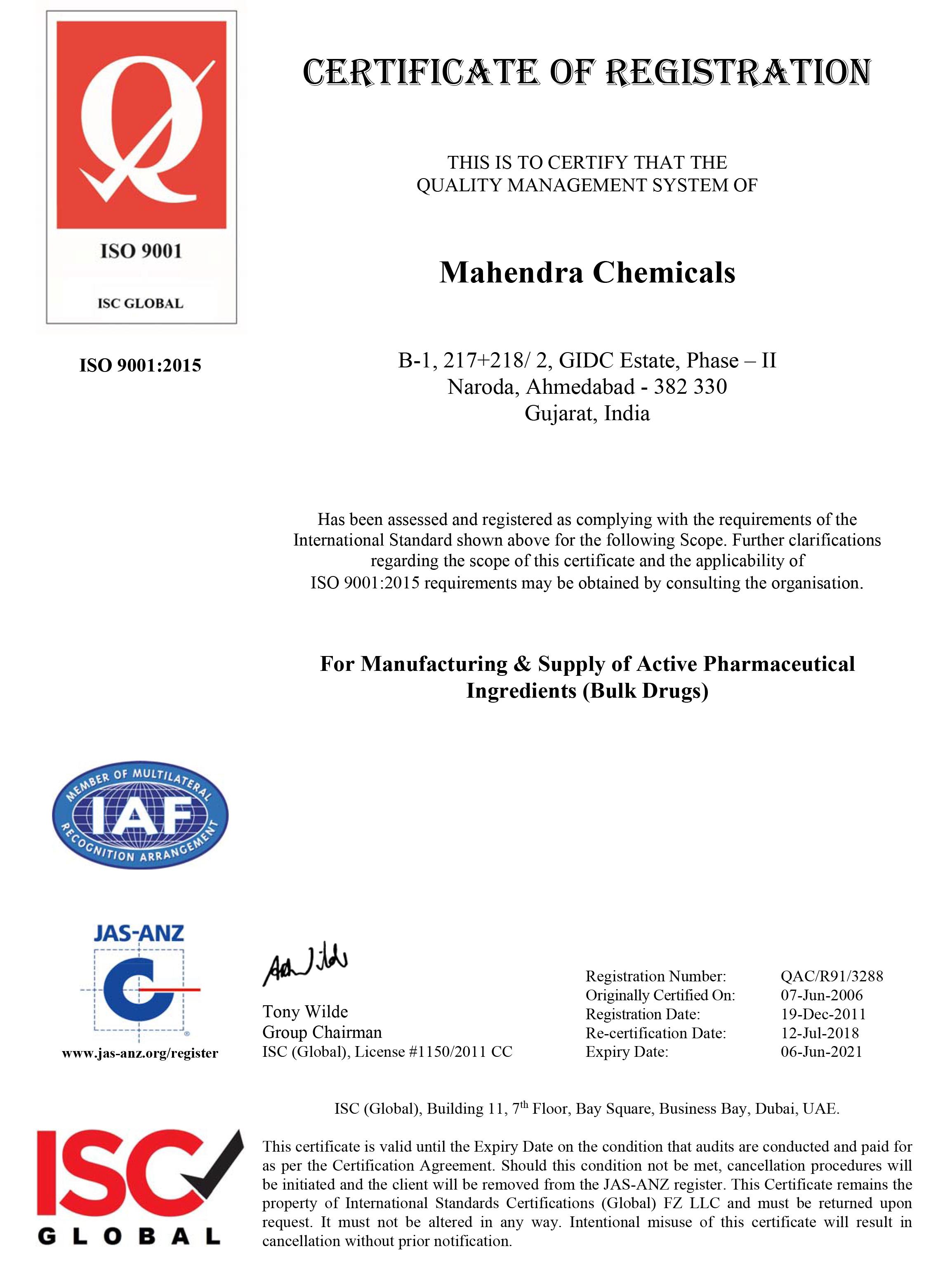 Microsoft Word – Mahendra Chemicals Triennial (QMS-2015).doc